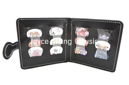 Portable Leather Guitar Picks Wallet&12pcs Rock Style Celluloid Guitar Picks Free Shipping