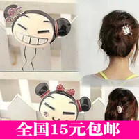 Barrettes & Clips Hairpin 3063 Smile Doll Japanese and Korean version of the lovely Chinese doll jewelry wholesale U -shaped clip hairpin hair accessories hairpin lady jewelry