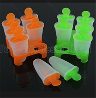 Ice Cream Tubs Plastic ECO Friendly Hot sale 6 Cell Frozen Ice Cream Pop Mold Popsicle Maker Lolly Mould Tray Pan Kitchen DIY 2 colors choice