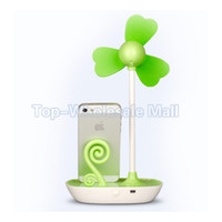 Wholesale 5 a Novelty DIY usb hub mini fan and battery operated mini fan with mobile holder for Summer usb gadget