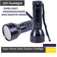 DC SMD 3528 Yes Ultra Violet 51 UV LED Flashlight Hunter Finder Torch Waterproof Indoor Outdoor Lamp