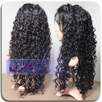 Wholesale Premium Quality Glueless Human Hair Full Lace Wig Density Brazilian Virgin Remy Curly Hair Lace Wig