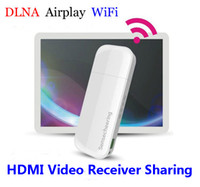 Cheap Wireless Ipush DLNA AIRPLAY WiFi HDMI Video Receiver Video Sharing share 1080P for IOS Android phones tablet PC windows pc
