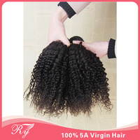 Brazilian Hair Kinky Curly Hair Extensions 6A kinky curly hair weaves natural hair extensions 8''-30''inch brazilian kinky curly virgin hair 3 bundles lot can be bleached dyed RY hair