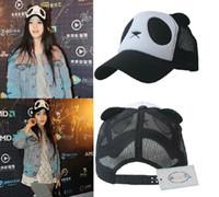 truck caps - Plush panda truck cap Cartoon mesh hat Sun hats Snapbacks caps hat circumference cm color
