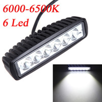 Spot Beam 30 Degree 6.1in 18W Spot Beam LED Camping Light Work Light Lamp Strip Light for Jeep SUV ATV Off-road Truck Universal Vehicle Bulbs 6000-6500K K1185