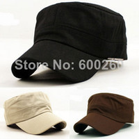 Wholesale Classic Plain Vintage Army Hat Cadet Military Patrol Cap Adjustable Many Color