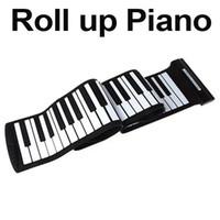 Wholesale USB Keys MIDI Roll up Electronic Piano Keyboard Silicone Flexible Professional Musical Instruments i190