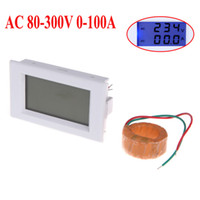 Wholesale AC80 V A Digital LCD Dual Display Voltage Meter Ammeter Voltmeter with Current Transformer H10361