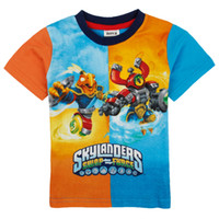 Wholesale IN STOCK nova summer new products Boys t shirts hot game Skylanders print tees cotton baby clothes short sleeve kids tops C4926