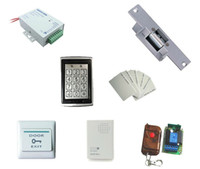 Wholesale Access control kit access control power strike lock remote control exit button door bell em cards sn em T9s