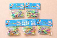 Unisex 8-11 Years multi-color DIY Bracelet Rainbow Color Rubber Loom Bands Refill 300pcs+12S-CLips