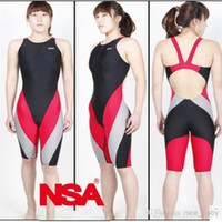 One-Piece Suits Pure Colour Women NSA competition italy fabric knee length one piece women's training & racing swimwear one piece waterproof swimsuit