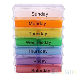 Wholesale Medicine Weekly Storage Pill Day Tablet Sorter Box Container Case Organizer Health Care