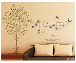 d removable photo frame tree birds words art mural wall vinyl sticker wall decal art mur