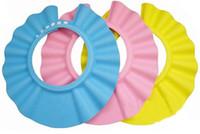 Unisex children shower cap - 10 off Hot sales baby Shampoo Shield Hat Baby Child Kid Shampoo Bath Shower Wash Hair Shield Hat Cap