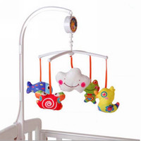 Wholesale Best Baby Cot Bed Musical Lullaby Mobile Nursery with Cartoon animal New Freeshipping