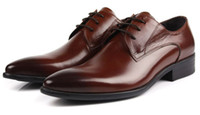 comfortable formal shoes - Brown tan mens casual business shoes Genuine leather mens office shoes dress Shoes comfortable man formal shoes