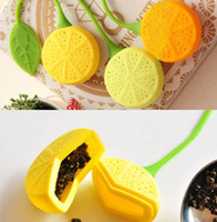 Wholesale 2pcs New arrive Silicone Teacup Teapot Lemon Design Teaspoon tea strainer Spoon Creative Strainer Filter empty tea bags