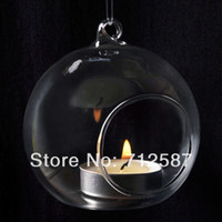 Wholesale Crystal Glass Candlestick Hanging Candle Holder Romantic Dinner Weeding Decor