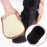 Wholesale Portable high end plush purple purple shoe polish shoes gloves shoe cloth to wipe dust multifunctional glazing Mao