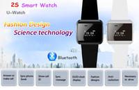 Wholesale Hot Sale New U Watch S Smart Watch Phone Phonebook Caller ID Bluetooth Speakphone for iPhone Samsung HTC Nokia Blackberry Sony SmartPhones