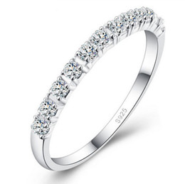 Brand New fASHION Jewelry Lady White Sapphire Gemstones 925 Sterling Silver Wedding Band Ring Sz 4-9
