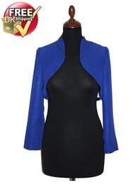 Wholesale Beautiful Damask Shrug Bolero Jacket in Royal Blue FREE UK POSTAGE DH7392