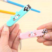 Wholesale Purple Purple Korean cartoon nail clippers scissors manicure nail care tools Shen