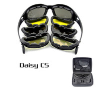Wholesale Tactical Daisy C5 Cycling goggles Bicycle sunglasses professional motorcycle goggles riding glasses UV400 lens