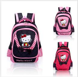 Wholesale New kids school backpacks children cartoon Layers Hello Kt Cat Nylon bag school backpacks Girl s Lovely Heart Bowknot Backpack School bags