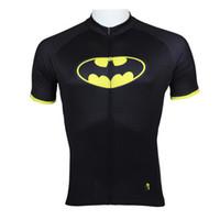 Short apparel rider - Hot sale Superheroes Batman Mens short Sleeve cycling jerseys bike clothing Rider Apparel S XL Cycling Clothes