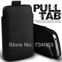 Wholesale Luxury Pull Tab PU Leather Sleeve Pouch for Lumia Cell Mobile Phone Case Bags SE