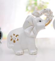 Porcelain Jade porcelain gilt Be [Featured] jade porcelain crafts supply quality workmanship gilt ornaments crafts ceramic elephant