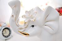 Porcelain Jade porcelain gilt Be [Featured] supply ceramic ornaments of jade crafts gilt porcelain elephant modern home accessories