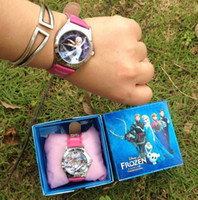 Wholesale frozen watch kids fashion anna elsa watch gift quartz cartoon Jelly Candy led with box Cute Lovely Girl woman lady Kids birthday gift
