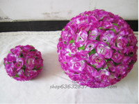 Wholesale Hot Sale colors cm Wedding Decorations Silk Kissing Pomander rose Flowers Balls Wedding bouquet
