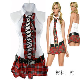 Wholesale Sexy lingerie students uniform white pure student uniform Babydoll Sexy lingerie Mini Dresses sexy adult costumes Hot