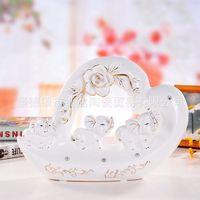 Porcelain Mosaic Be Wholesale Jingdezhen pottery ornaments wedding gifts gilt porcelain three jade elephant