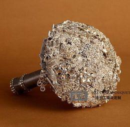 Wholesale Luxurious Wedding Bouquet Brooch Crystal Pendant Bouquet High Quality pc B10
