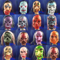 Wholesale New Arrival Hot Halloween horror grimace mask Rubber Funny whole person A face Volto Mask Makeup mask props F040