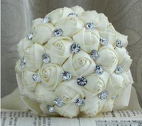 Wholesale Bride Wedding Bouquet Rose And Crystal Size cm styles Mix pc B11