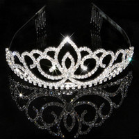 Jewelry Sets 925 Sterling silver Crystal Details about Wedding Bridal Tiara Rhinestone Silver Crystal Crown Pageant Prom Veil Headband