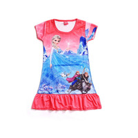 Frozen Girls dresses New arrivals baby short sleeve tutu top...