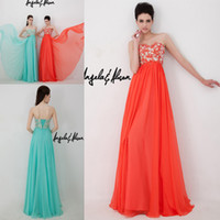 Reference Images Sweetheart Chiffon Best Selling Long Coral peacock Blue Beautiful Appliques With Lace Up Back A Line Chiffon Prom Dresses