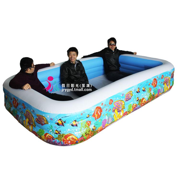 Yc intex small yellow croaker family pool square big for Small paddling pool