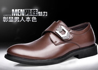Wholesale Leather shoes breathable men suit business wingtip shoes han edition buckles low leisure for men s shoes