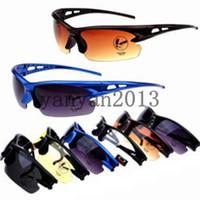 Wholesale 2014 New arrivals Fashion Explosion proof PC men women Unisex Safety Outdoor Car Sports Riding Sunglasses glasses