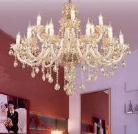 De estilo romano Antiguo candelabro de cristal vintage titular de la vela del led lámparas lámparas de comtempory de la boda de la sala villa hotel cuelgan de la luz