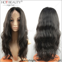 human hair lace wigs - Peruvian Brazilian Indian Malaysian Virgin Hair Body Wave Glueless Lace Front Human Hair Wigs For Black Women Density With Baby Hair